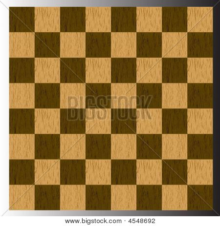 Traditional 2D Wooden Chessboard Illustration