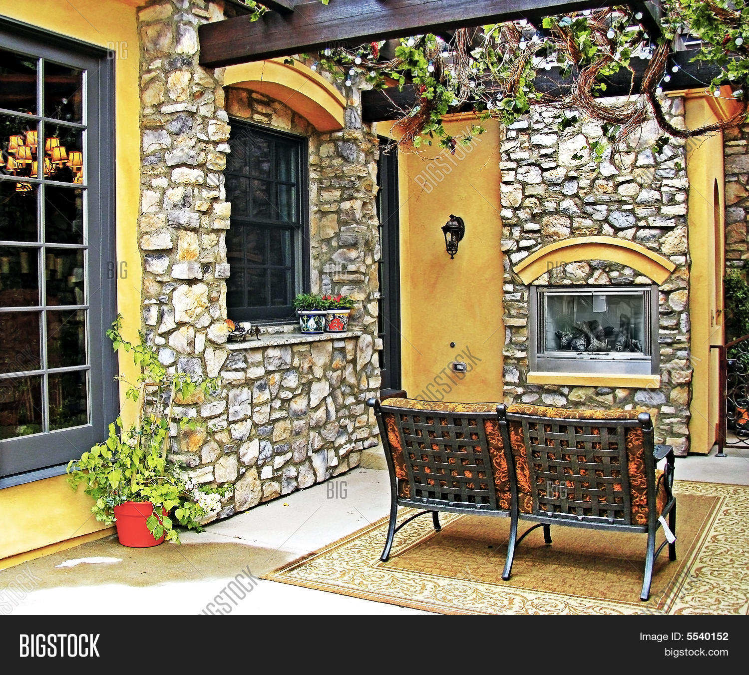 Tuscan Style Patio Image Photo Free Trial Stock