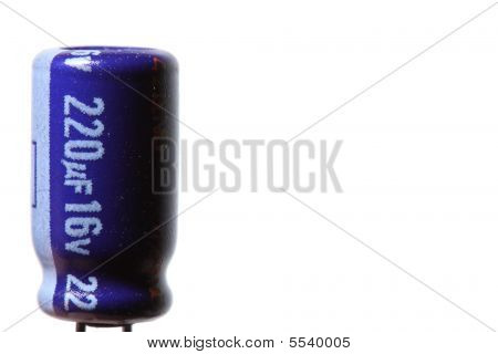 Blue Eletroclytic Capacitor (isolated)