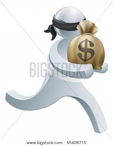 Burglar Thief Silver Person Concept