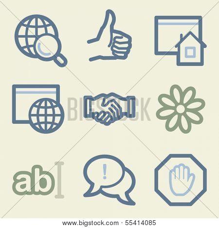 Internet web icons, money color set