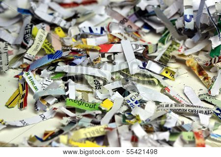 Shredded paper background