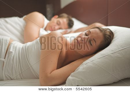 Lovely Couple Is Sleeping In The Morning
