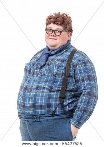 Overweight Obese Young Man