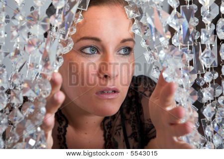Young Attractive Woman Portrait With Glitter