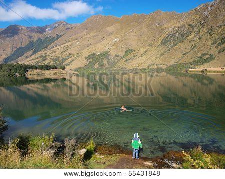Moke Lake Swimmer
