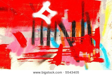 modern urban colorful picturesque graffiti fragment background poster