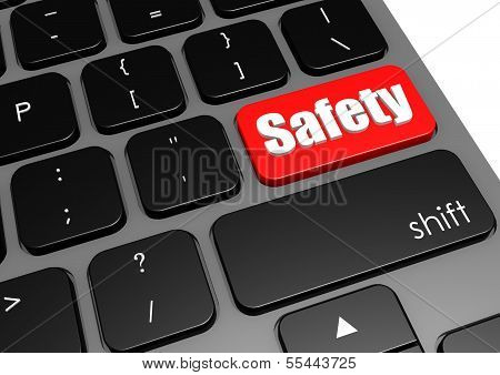 Safety with black keyboard