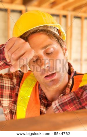 Bored Construction Worker