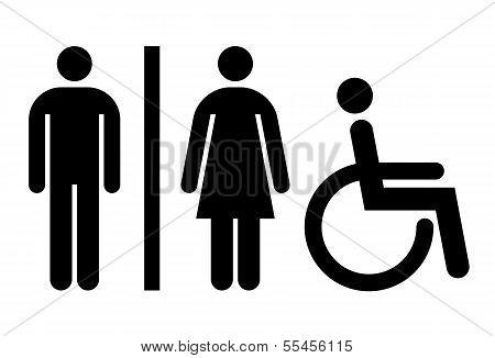 Toilet, Wc, Restroom Sign