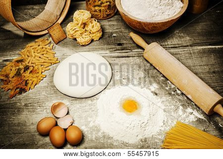 Ingredient for making italian pasta