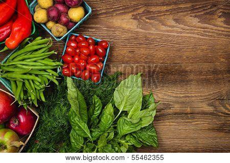 Fresh Market Fruits And Vegetables