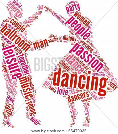 Dancing Couple tag cloud