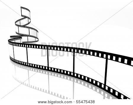empty film strip on white background