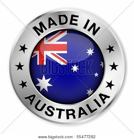 Made In Australia Silver Badge