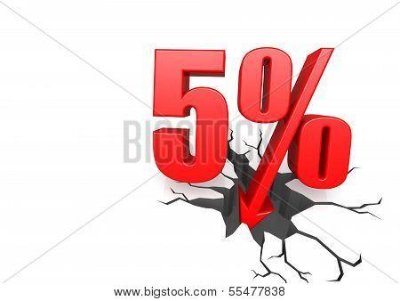 Five percent down