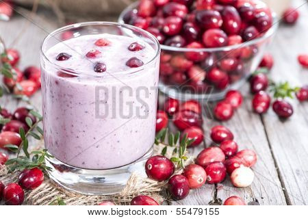Fresh Made Cranberry Milkshake