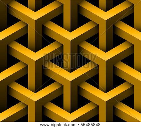 3D Construction Seamless Pattern