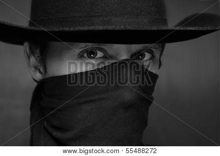 Portrait Of A Man Cowboy