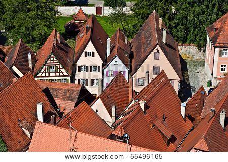Medieval City Dinkelsbuehl In Germany