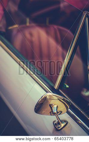 Retro Style Vintage Sports Car Detail