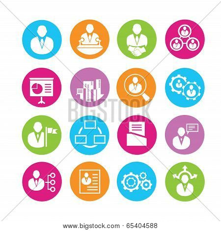 organization and human resource management icons