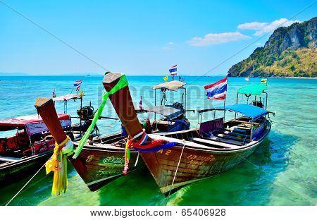 The beach on Krabi tropical island