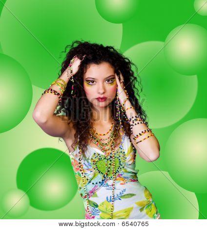 Beautiful Women With Beads