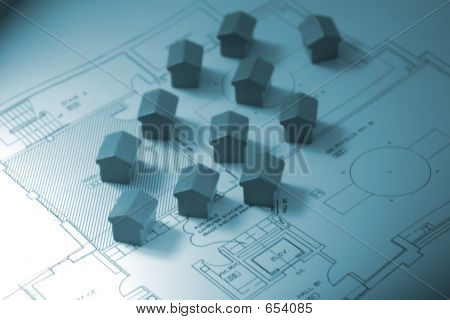 Houses Over A Flat Plan