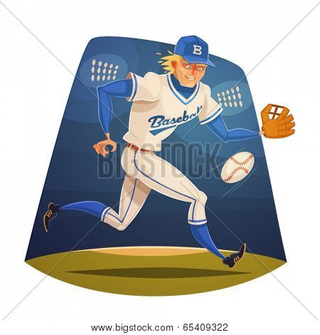 Baseball Player. Vector image
