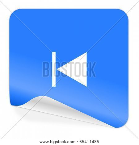 prev blue sticker icon