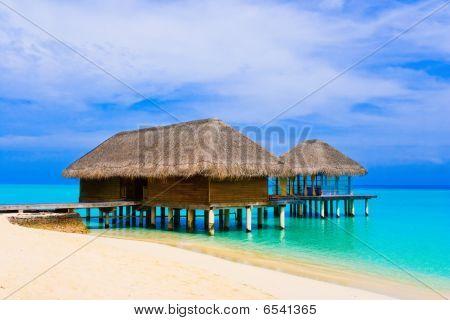 Spa salon on beach of tropical island