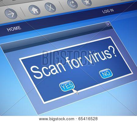 Virus Scan Concept.