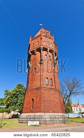 Water Tower (1905) In Malbork, Poland
