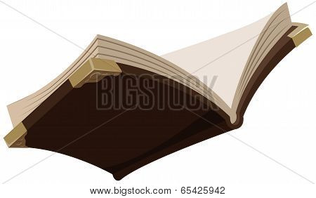 Open magic old book