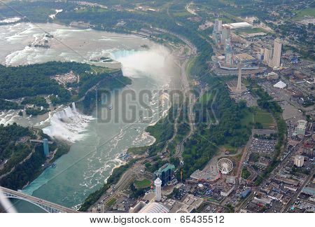 Niagara Falls In Overcast Day