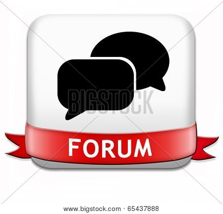 forum button internet icon website www logon login and subscribe to participate in discussion