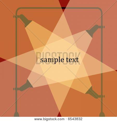 Spotlight abstract drawing, stock vector art illustration poster