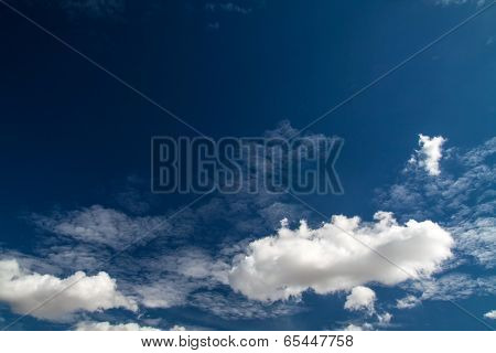 Blue Sky With White Clouds Series