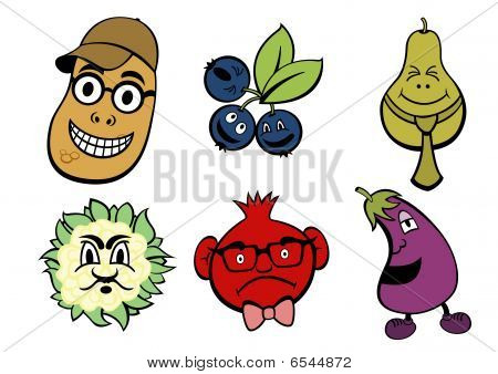 Fruits And Vegetable Icons Set