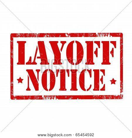 Layoff Notice-stamp