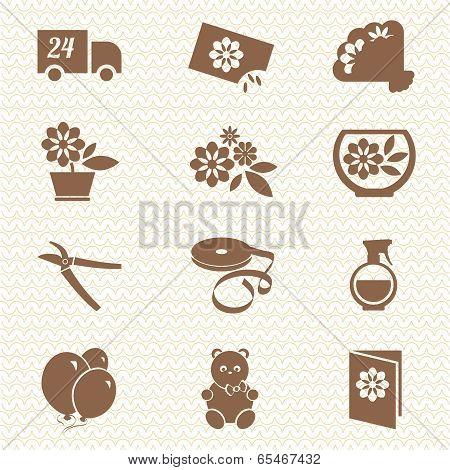 Flower Shop Ikons