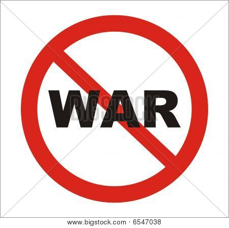 Anti war Sign, vector
