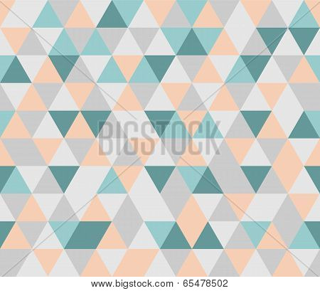 Colorful tile vector background. Grey, orange, pink and mint green triangle geometric mosaic