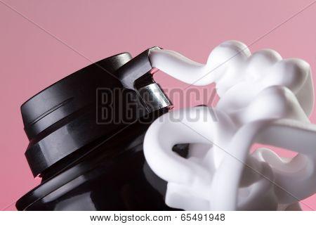 White shaving foam