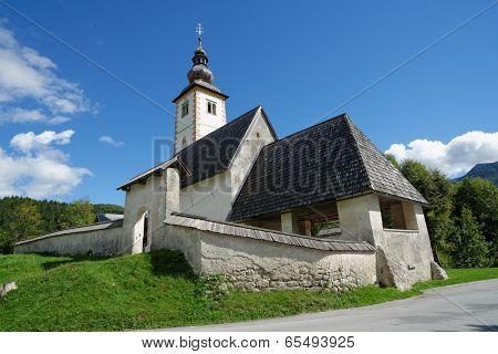 Church of St John the Baptist Bohinj Lake Slovenia