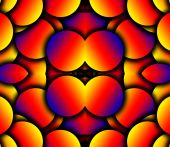 an abstract Seamless curved colour tile pattern background. poster