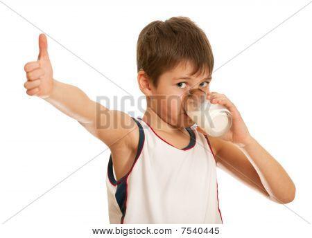 Drinking Milk Boy