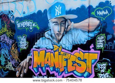 Street art Rapper
