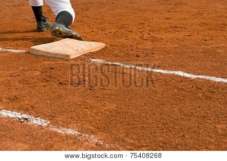 Base Man In A Baseball Game